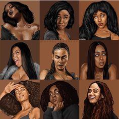 Love this eccentric art. Peep my girl Nicki Black Love Art, Black Girl Art, Black Girl Magic, Black Is Beautiful, Art Girl, Black Girls, Arte Hip Hop, Hip Hop Art, Black Art Painting