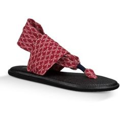 Look at this Sanuk Red Stars Yoga Sling Patriot Sandal - Women on today! Black Sandals, Women's Shoes Sandals, Sanuk Shoes, Comfy Casual, Painted Shoes, Marshalls, Your Shoes, Flip Flops, Footwear