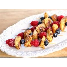 French Toast Kabobs  #Christmas #Breakfast