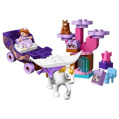 LEGO DUPLO l Disney Sofia the First Magical Carriage 10822 Large Building Block Toy for 2- to 5-Year-Olds