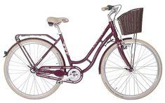Dámské retro kolo Cossack Retro City 3, vínové Bicycle, Retro, City, Bike, Bicycle Kick, Bicycles, Cities, Retro Illustration