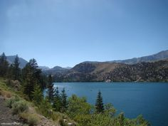 Route 158 that wraps around four picturesque lakes located in the Sierra Nevada Mountains.