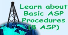 Learn about Basic ASP Procedures (8 ASP):