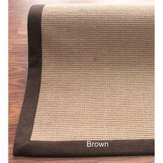 nuLOOM Handmade Alexa Eco Natural Fiber Cotton Border Jute Rug (8u0027 x 10u0027)  by Nuloom
