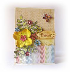 Lawn Fawn - Blissful Botanicals _ Quill and Punch Works: Inspiration for Crafter's Corner # 6 - Stamping! :)