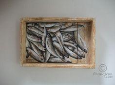Petite caisse de Chinchards - Peinture©2011- By Philippe Coeurdevey