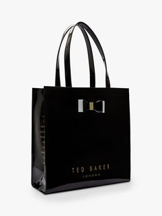 Buy Black Ted Baker Sofcon Large Icon Shopper Bag from our Handbags, Bags & Purses range at John Lewis & Partners. Ted Baker Shopper Bag, Ted Baker Handbag, Ted Baker Totes, Ted Baker Black Bag, Ted Baker Accessories, Bag Accessories, Coat Outfit, Hijab Outfit, Amigurumi