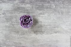 Купить Фиалковая войлочная брошь - бледно-сиреневый, брошь ручной работы, брошь цветок