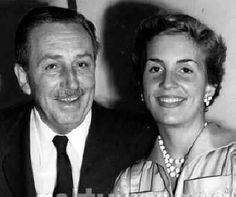 Walt Disney and his daughter, Diane.