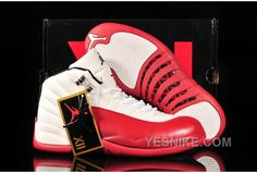 Coupon Code For For Sale Air Jordan 12 Mens Shoes Online White Red Yellow 5KxNE