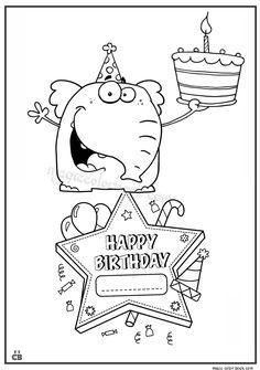 Happy Birthday coloring pages 10