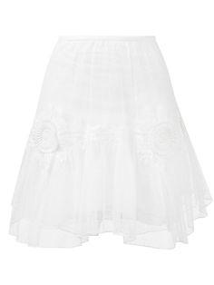 CHLOÉ Embroidered Tulle Skirt. #chloé #cloth #skirt