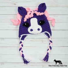 Free Crochet Little Pony Hat - The Friendly Red Fox