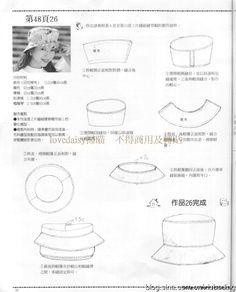 Шляпы, шапочки и береты. Шьем сами. Отличный японский журнал (52) (564x700, 196Kb)