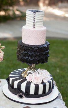 black and white cake More