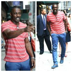 Idris Elba Spotted Looking Handsome In New York, Talks Nelson Mandela Role Handsome Black Men, How To Look Handsome, Handsome Man, Black Is Beautiful, Gorgeous Men, Beautiful People, Idris Elba Wife, Idris Alba, Hot Black Guys