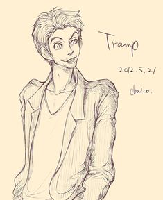 Disney animals as people - Tramp by *chacckco on deviantART