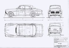 Image result for volvo amazon blueprint Volvo Amazon, Blueprint Drawing, Volvo Cars, Car Drawings, Car Sketch, Slot Cars, Cars And Motorcycles, Honda, Classic Cars