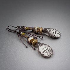 Hey, I found this really awesome Etsy listing at https://www.etsy.com/dk-en/listing/287904479/primitive-earrings-rustic-earrings-raw
