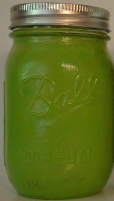 Lime Green Mason Jar
