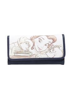 Loungefly Disney Beauty And The Beast Belle Mrs. Potts & Chip Sketch Wallet,