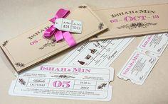 Invitación de la boda de Ishah #bodas #invitations #novias #weddings #invitaciones
