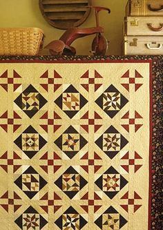 Prairie Life | ConnectingThreads.com Sampler Quilts, Lap Quilts, Small Quilts, Mini Quilts, Quilt Blocks, Kansas, Layer Cake Quilts, Quilt In A Day, Charm Quilt