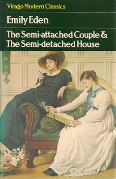 The Semi-attached Couple & The Semi-detached House by Emily Eden cover, detail from 'The Language of Flowers' by G.D. Leslie No. 16