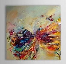 single width Hot Sell Free Shipping Butterfly Abstract Modern Hand Painted Home Wall Decoration Art Oil Painting(China (Mainland))
