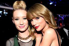 Grüne Smokey Eyes oder rote Lippen: Iggi Azalea und Taylor Swift tragen die Bam!-Make-Ups fürs Wochenede. Wie man sie schminkt und welche Produkte man braucht!