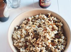 Bacon Kettle Corn #SundaySupper - The Girl in the Little Red Kitchen