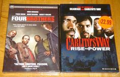 Four Brothers & Carlito's Way 2 Brand New DVD Set Widescreen Edition Sealed