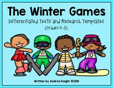The Winter Games: Student Books and Research Templates My Face Book, The Book, Winter Games, Vocabulary Words, Winter Olympics, Teacher Pay Teachers, Teacher Newsletter, Comprehension, Research