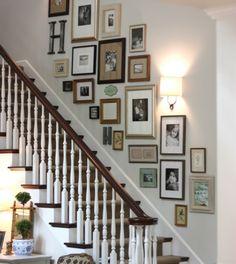 idee deco escalier avec des photos, escalier esthétique dans une maison de…
