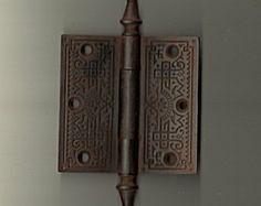 Hinge Antique Victorian Hardware cast iron fancy ornate steeple pin
