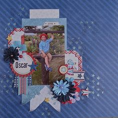 Oscar Layout by Megan Gourlay for BoBunny using the  Firecracker Collection. #BoBunny @weemegs