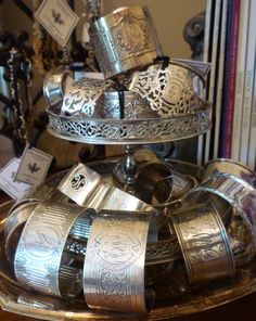 Karen Lindner Designs antique cuff collection.http://www.frenchgardenhouse.com/catalog.php?category=6