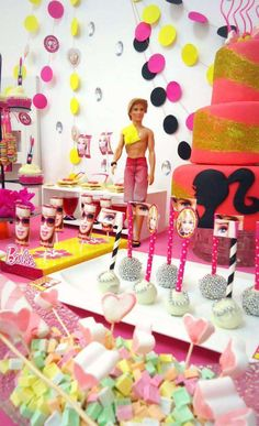 Fun treats at a Barbie birthday party! See more party ideas at CatchMyParty.com!