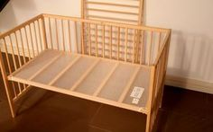 Step by step instructions to convert an IKEA crib into a co-sleeper