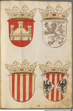 Tirol, Anton: Wappenbuch Süddeutschland, Ende 15. Jh. - 1540 Cod.icon. 310  Folio 9r