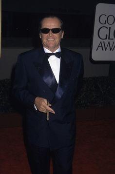 "Jack Nicholson at ""The Golden Globe Awards"" Black Tie Dress Code, Louise Brooks, Marilyn Monroe Photos, Jack Nicholson, Celebs, Celebrities, Girls Be Like, Best Actor, American Actors"