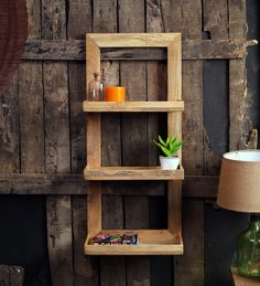 0bf378a5c Buy Fabuliv Brown Mango Wood Framed Wall Shelf with 3 Slabs Online  Shop  from wide