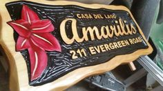 Custom carved rustic cedar sign by Adirondack Jim! Www.adirondackjims.com