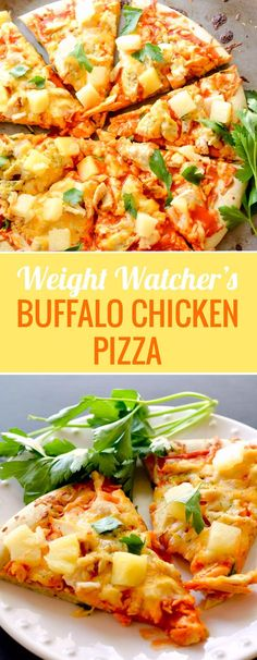 Buffalo Chicken Pizza - 5 WWP+ per serving - Recipe Diaries - Pizza Recipes Chicken Pizza Recipes, Healthy Pizza Recipes, Ww Recipes, Healthy Cooking, Healthy Eating, Quick Recipes, Weight Watchers Pizza, Weight Watcher Dinners, Buffalo Chicken Pizza
