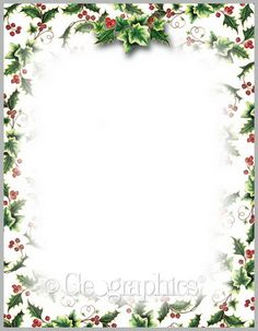 "Geographics Holly and Ivy Design Paper, 8.5"" x 11"" 100/pk"