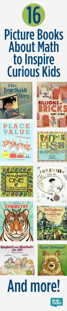 Students who say they don't like math but love reading will benefit from these books about math! Read them aloud to inspire curiosity about STEM!