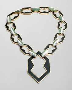 Peaked Link Pendant Necklace by Eddie Borgo at Bergdorf Goodman.