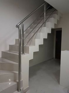 Porch Step Railing, Porch Steps, Stair Railing, Stainless Steel Fabrication, Stainless Steel Railing, Steel Railing Design, Tulsi Plant, Glass Stairs, Modern Stairs