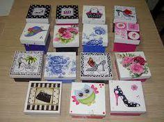 Cajas Pintadas a mano con Decoupage - Buscar con Google