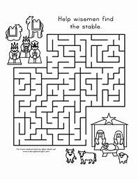 Image Result For Religious Christmas Activity Sheets